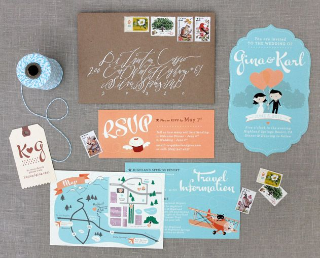 love these fun invites by kymera studio