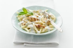 Chicken with Creamy Pesto Sauce