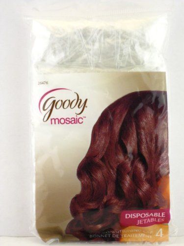 Goody so Protected Conditioning Caps 4/pack Clear. by Goody. $2.99. The Goody Mosaic Conditioning Cap is disposable and can be used for home perms, hair coloring, hot oil treatments, relaxers or simply for showering. These caps are safe for use overnight or under a dryer.