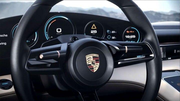 Porsche Mission E Concept Interior - Steering Wheel