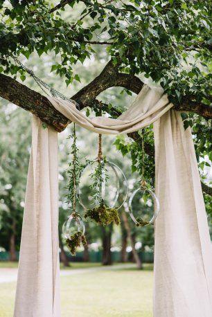 Оригинальные украшения свадебной церемонии