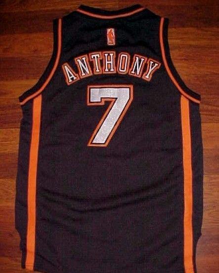 adidas NBA New York Knicks Carmelo Anthony 7 Boys Black Limited Edition Jersey M #adidas #NewYorkKnicks