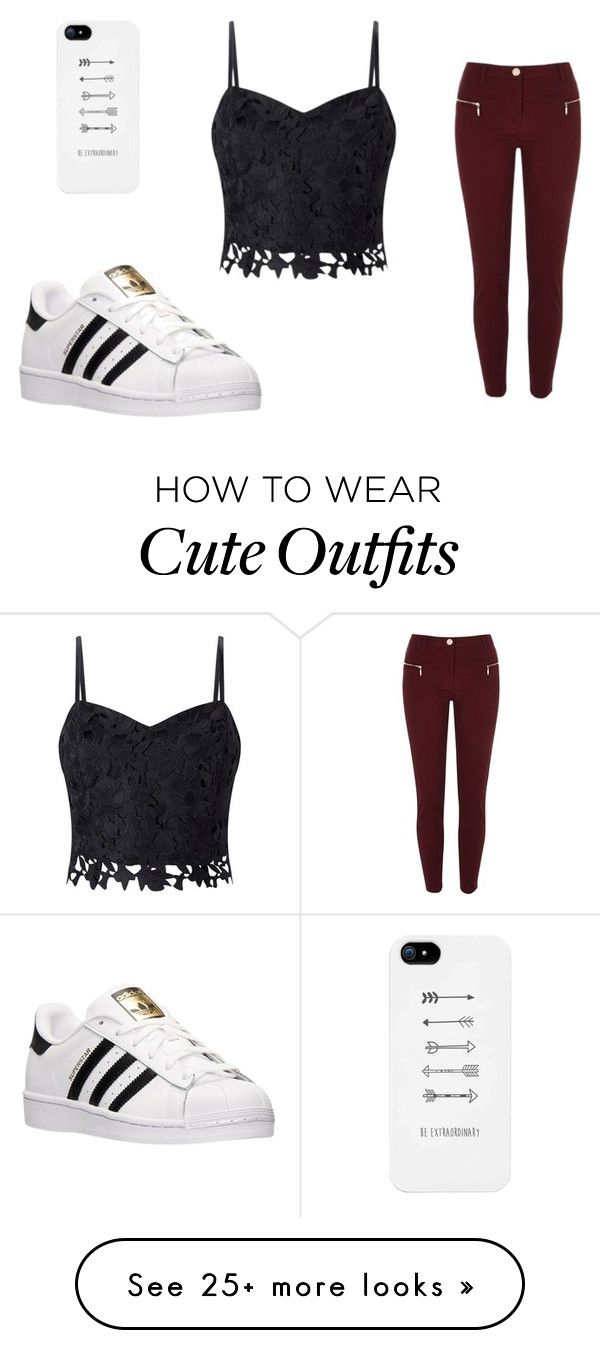 """""""Casual outfit"""" by valeriagonzalezafa on Polyvore featuring Lipsy, River Island and adidas"""