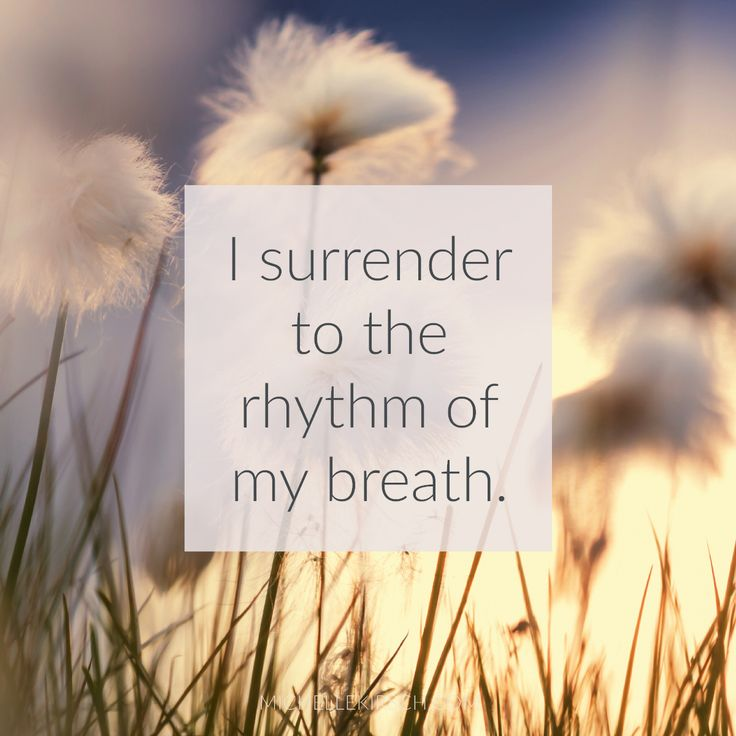 3 Minute Meditation + Affirmation: I surrender to the rhythm of my breath. This meditation is the perfect reset button for a hectic day.