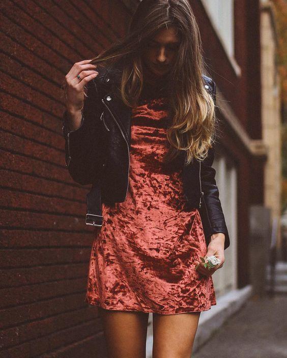 Velvet dress. Бархатное платье-сорочка. Вечерняя мода. Зима 2016-2017.