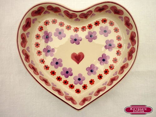 Emma Bridgewater Hearts & Flowers Heart Shaped Baker