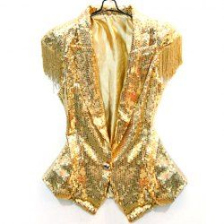 $19.50 Dance Costumes Stunning Lapel Sequin Tassels Embellished Solid Color Blazers For Women