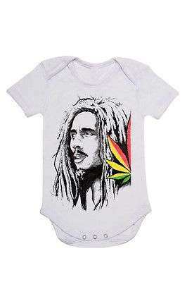 Baby Onesie toddler infant bodysuit size 0 00 000 0000 bob Marley R&B music fun