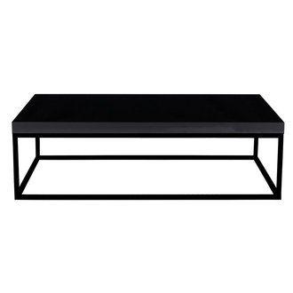 Table basse Noire / Piètement Noir Laqué - PRAIRIE