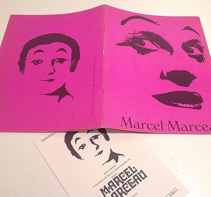 1971 MARCEL MARCEAU & PIERRE VERRY Souvenir Program & Playbill Pantomime Vintage
