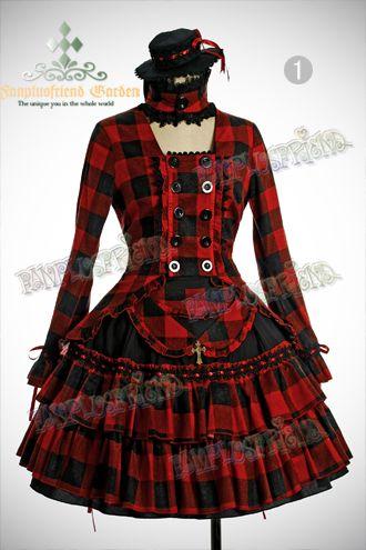 Gothic Aristocrat Travel Rider Top,Bustle Skirt,Mini Hat Set*4color