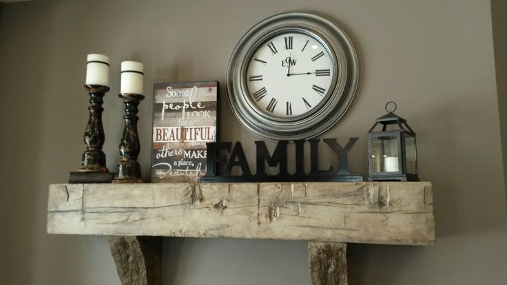 Rustic Barn Beam Mantle decor J&N Stone