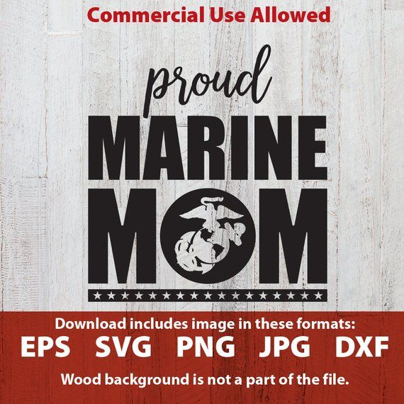 Proud Marine Mom svg cutting file proud Marine mom clipart