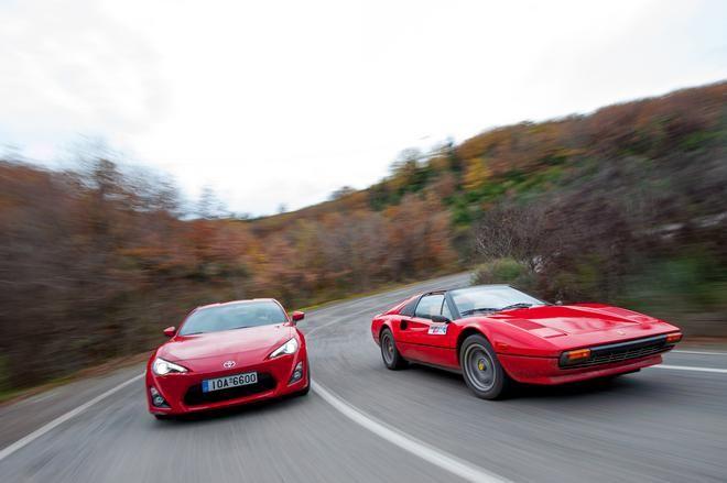 Ferrari 308 GTS Vs Toyota GT86...