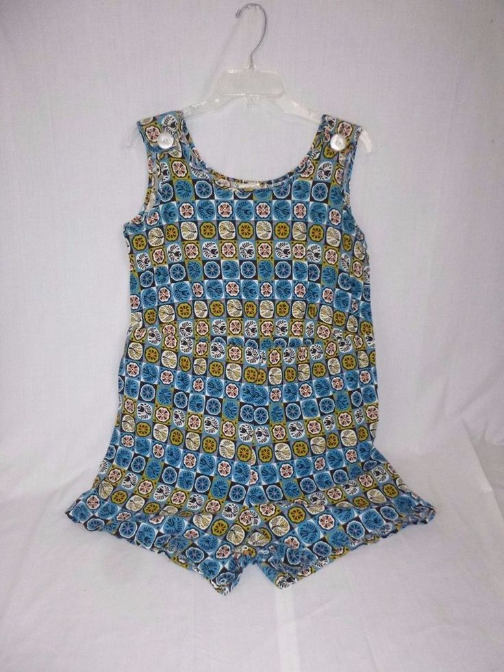 Vtg Cotton Penn Dutch Novelty Print Romper Playsuit Sherry Lynn Sz 14-1/2 #SherryLynnleisurewear #Romper #SummerBeach