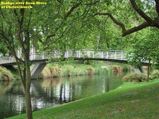 Bridge over Avon River at Christchurch