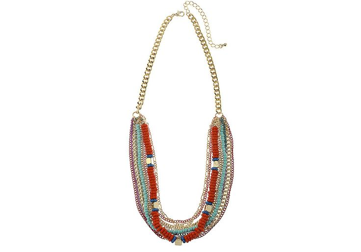 AlibiOnline - CNM390 - Necklace Multi Colour Row On Gold Chain by MAJIQUE, $39.99 (http://www.alibionline.com.au/cnm390-necklace-multi-colour-row-on-gold-chain-by-majique/)
