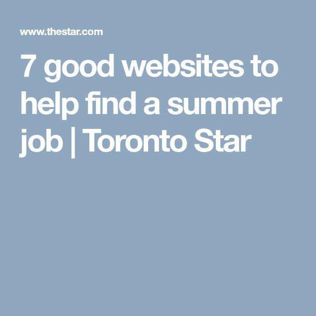 7 good websites to help find a summer job | Toronto Star