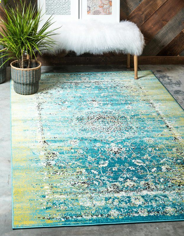 Neuilly Oriental Blue Green Area Rug Area Rugs Green Area Rugs