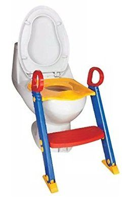 VERBABY TOILET TRAINING Baby Toddler Potty Training Toilet Ladder Seat Steps. Fosters your toddler's need for independence. Specially designed gripper handles for stability and confidence. Fits most toilet seats. Easy assemble, no tools required.