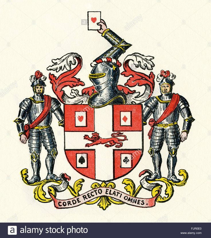 Coat Of Arms Of The Worshipful Company Of Makers Of Playing Cards Stock Photo, Royalty Free Image: 97620936 - Alamy