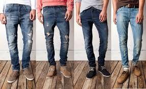 Colección de jeans diseñados en base a las tendencias juveniles, Jeans para caballero con rasgado desgaste, color oscuro claro, talla 28-38, precio 80.000 $