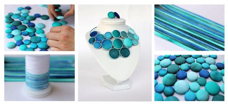 Hand painted silk jewelry - behind the scenes www.facebook.com/koriadesign