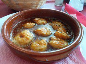 Receta gambas al pil pil. - Recetas de cocina andaluza. Las típicas recetas caseras de la abuela.