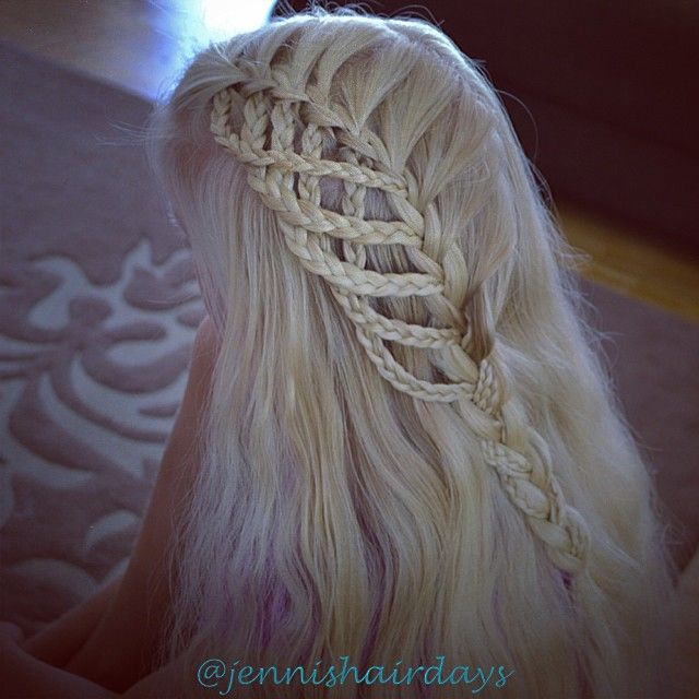 Microbraid waterfall by Jenni's Hairdays Miniletti putouskampaus