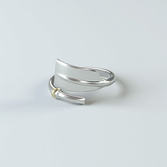 Roeien sieraden: Cleaver Oar Ring bemanning door StrokesideDesigns