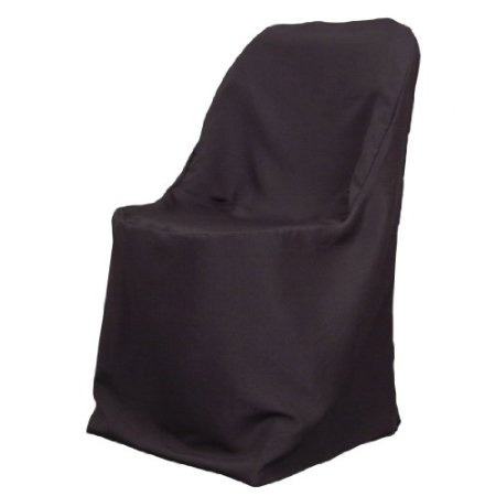 Amazon Com Polyester Folding Chair Cover Black Home