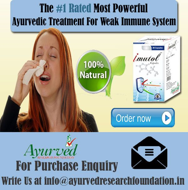 Weak immune system is something that opens up the door for many illnesses and it should be treated in safe manner. Imutol capsule is the best ayurvedic treatment for weak immune system.