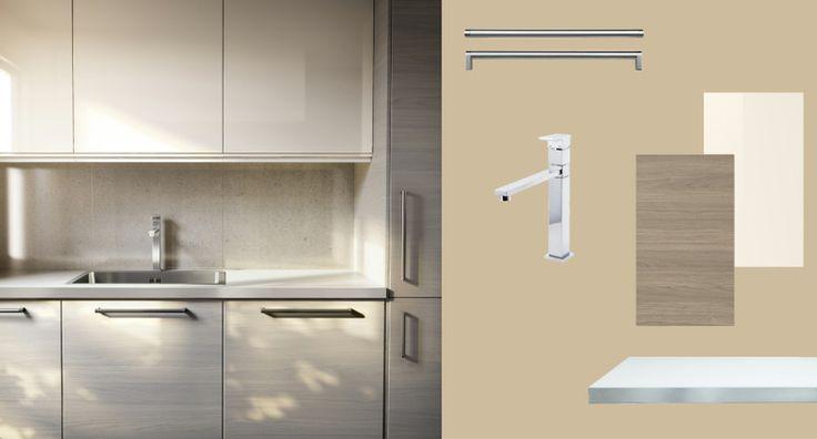 Faktum keuken met sofielund deuren lades in lichtgrijs for Abstrakt kitchen cabinets
