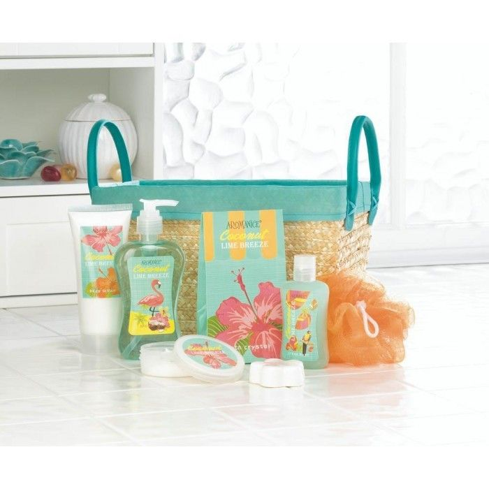 Lime Coconut Tropical Spa Basket Set
