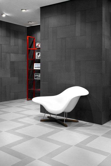A pavimento abbinamento piastrelle in gres porcellanato 60x60 e 15x60