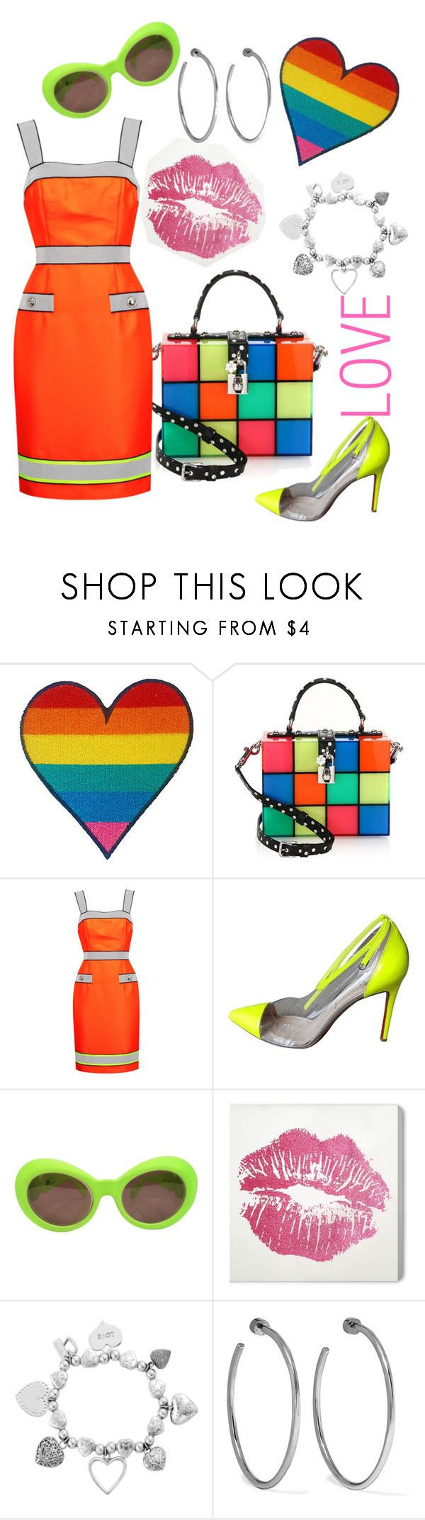 """""""LOVE EVERYONE"""" by ahuserapx ❤ liked on Polyvore featuring Dolce&Gabbana, Moschino, Christian Louboutin, Versace, Wynwood, ChloBo, Jennifer Fisher and pride"""