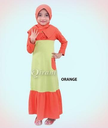 Beli Baju Dress Anak Gamis Qirani Kids  QK 70 Orange Tua dari Aprilia Wati agenbajumuslim - Sidoarjo hanya di Bukalapak