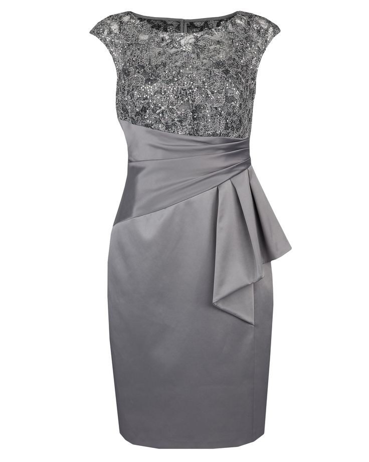 Mother of the Bride : Sterling Sequin Lace & Satin Dress