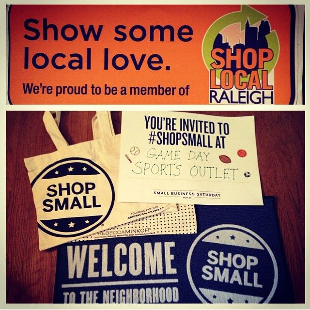 """""""@gamedaysportsoutlet is all ready for @shopsmall Saturday on Nov 29th!! #shoplocal #shopsmall #entrepreneur #independent #buylocal"""" www.shoplocalraleigh.org"""