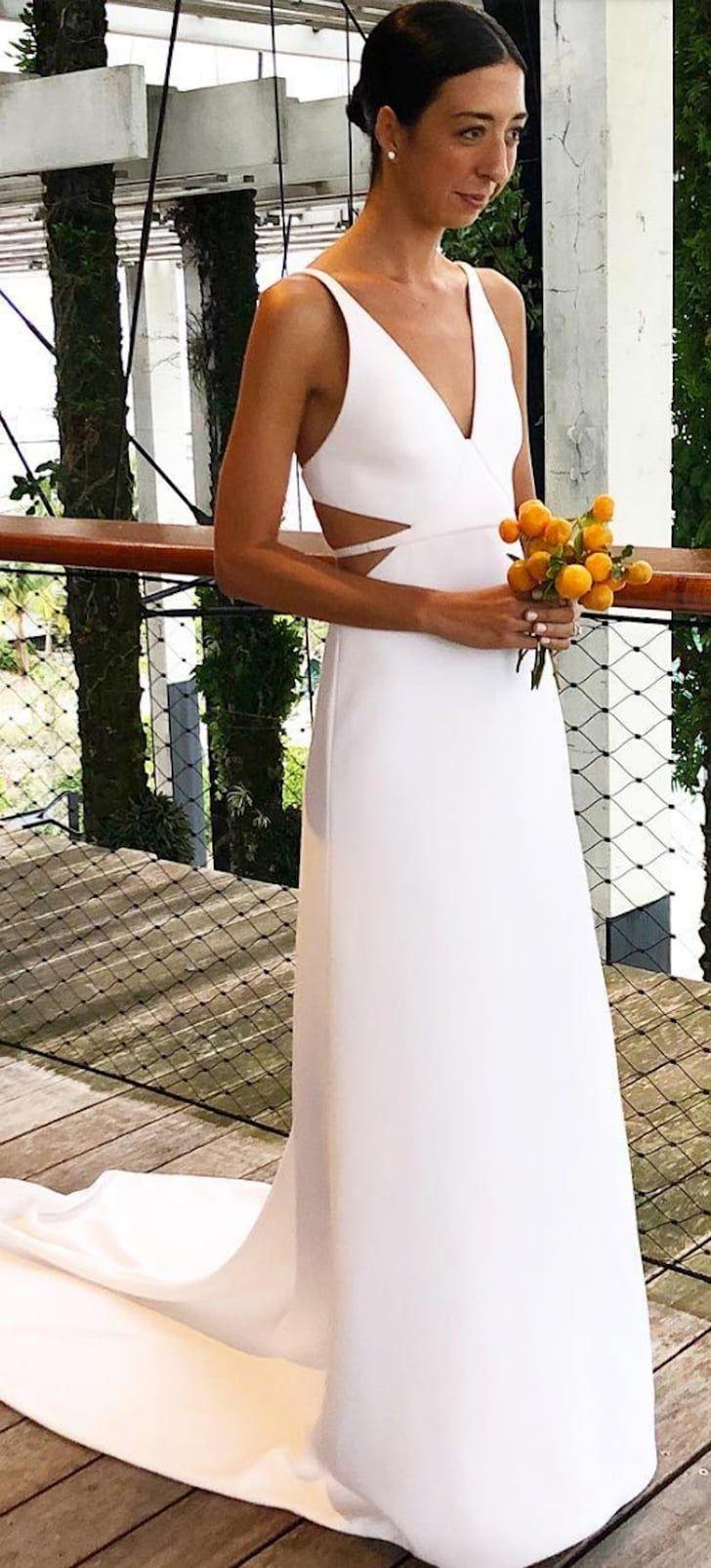 This Stylist Wore The Chicest Calvin Klein Wedding Dress In