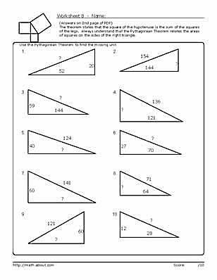 75 best Geometry images on Pinterest Geometry worksheets - pythagorean theorem worksheet
