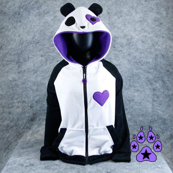 Pawstar PANDA HEART EYE You Hoodie Jacket Heart Valentine