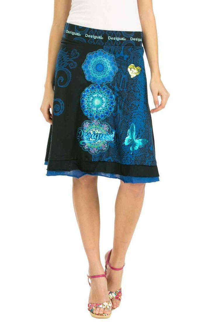 Desigual Skirt Berlin Blue