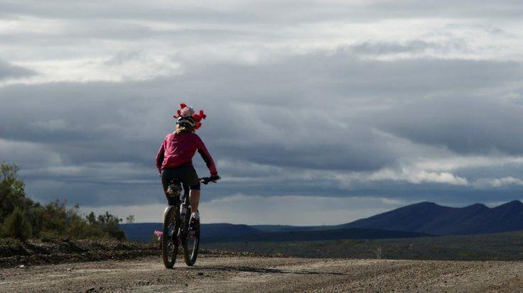 A Classic Flower Power Girl riding her bike!