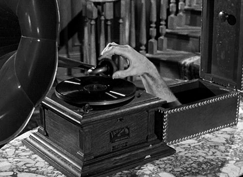 """Thing enjoying a tune Ted Cassidy, who played the lovable character Lurch on the Addams Family TV show (best known for the line """"You Rang""""), also was very handy on the set."""