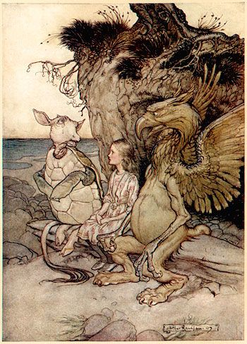 Arthur Rackham Alice in Wonderland Lots more vintage goodies at vintagebookillustrations.com