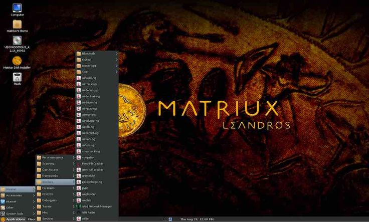 Matriux is a Debian-based Linux operating system crafted for security enthusiasts. The operating system comes with more than 300 open source tools for penetration tools and hacking.