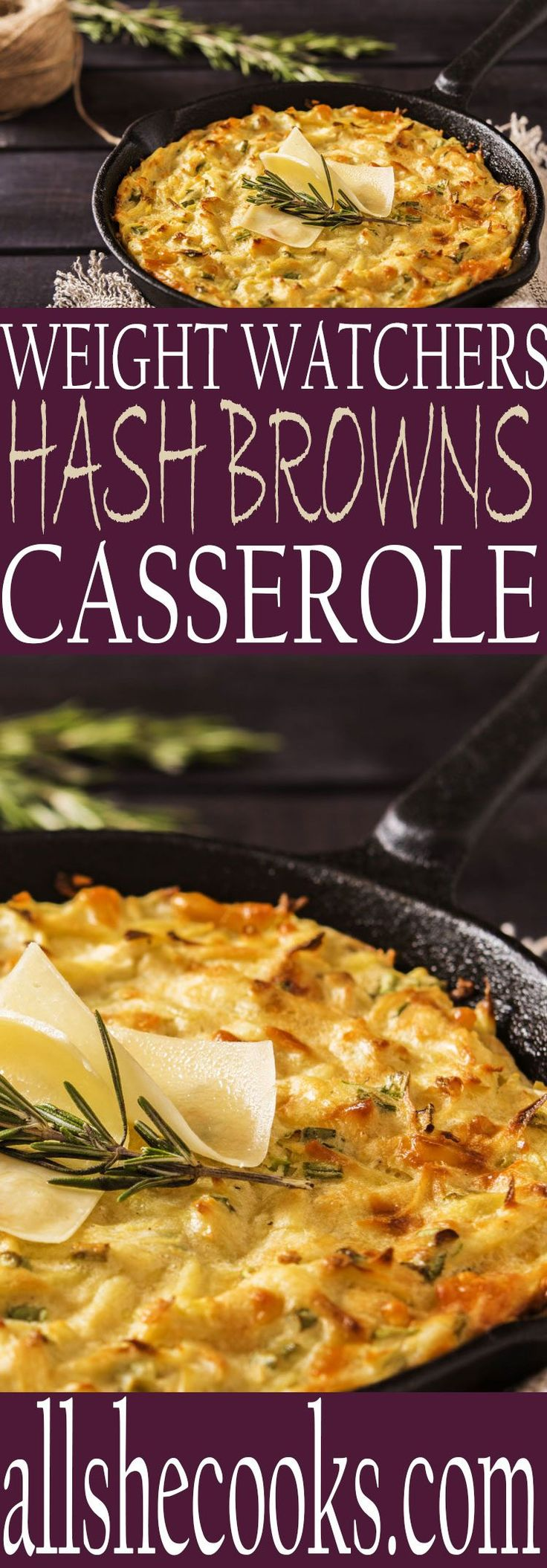 Enjoy this Weight Watchers Hash Browns Casserole that will let you count points and enjoy your meal. Great choice for breakfast or dinner.