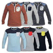 Mens Shirt Soul Star Top Denim Patched Striped Long Sleeved Summer Casual New