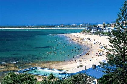 Kings Beach Caloundra - where we used to go every Christmas morning for a swim and some body surfing before the BIG lunch.